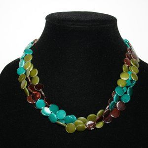 Beautiful summer necklace with natural shells